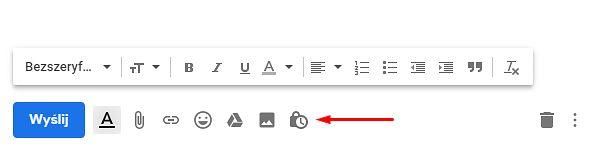 Krokl 2: wybór trybu poufnego podczas tworzenia nowej wiadomości e-mail.