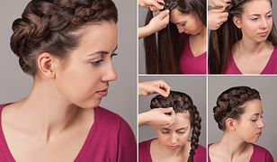Korona z warkocza to propozycja eleganckiej fryzury