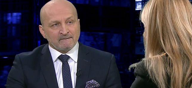 """""""Kropka nad i"""": Olejnik zapytała Marcinkiewicza o książkę byłej żony. Jego reakcja była rozbrajająca"""