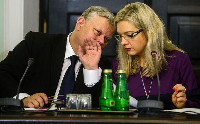 Marek Suski i szefowa komisji ds. Amber Gold Małgorzata Wassermann