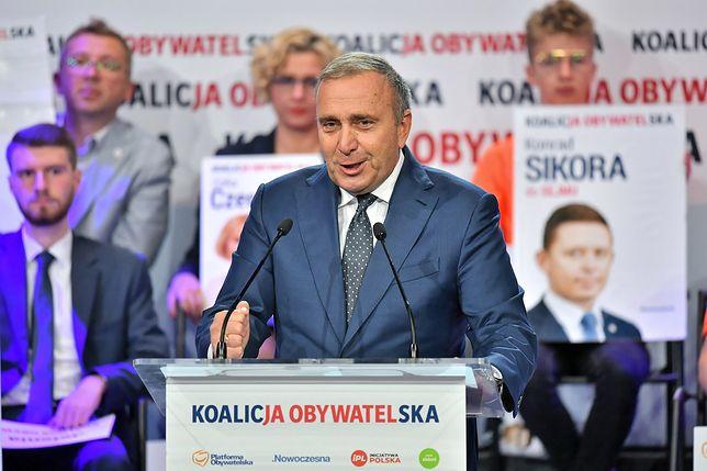 Wybory parlamentarne 2019. Grzegorz Schetyna na konwencji Koalicji Obywatelskiej w Jeleniej Górze