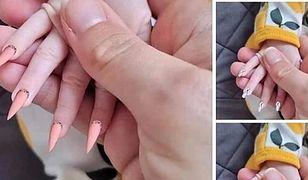 Zrobiła niemowlęciu manicure. Ludzie są oburzeni