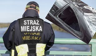 Warszawa. Straż miejska zatrzymała mężczyznę, który pod wpływem alkoholu i narkotyków niszczył auta