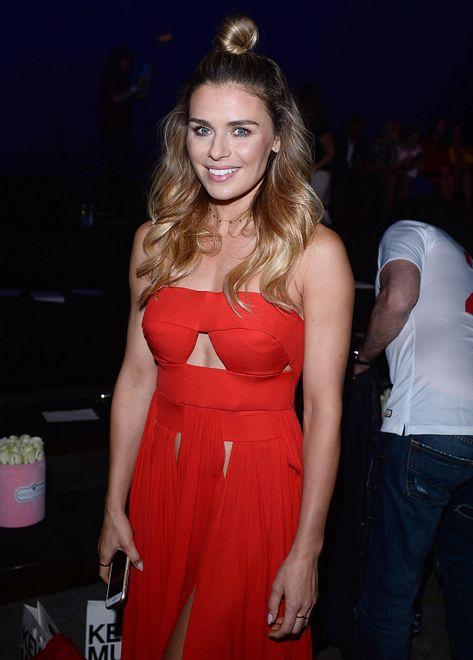W czerwonej sukni Natasza wyglądała nadzwyczajnie!