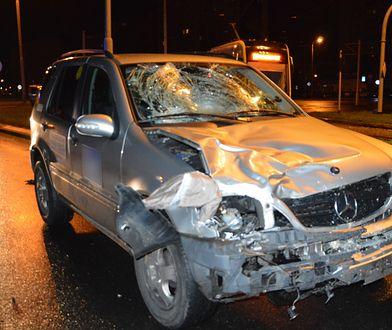 Kierowca Mercedesa tłumaczył się zmęczeniem