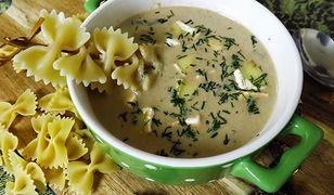 Zupa grzybowa z puree z kalafiora. Kremowa i aromatyczna