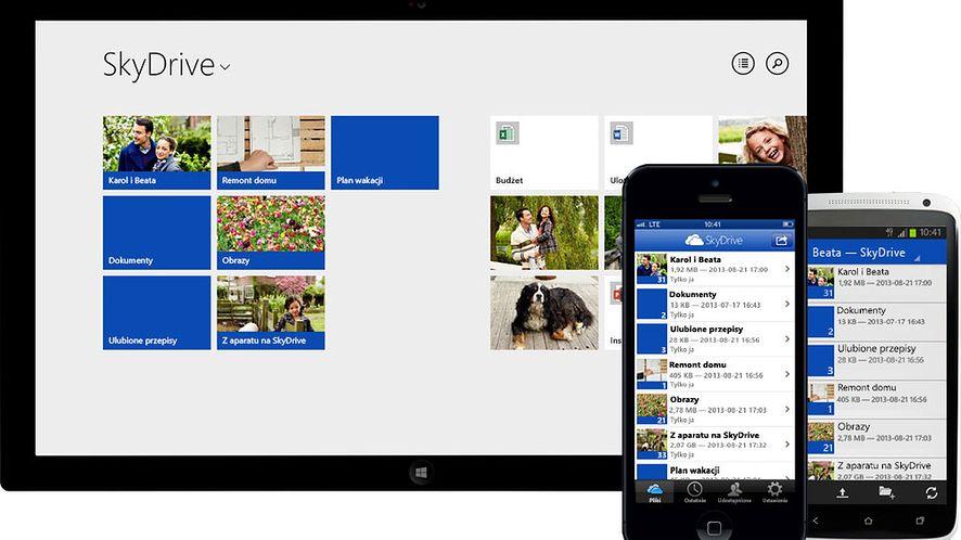 Obecna wersja SkyDrive