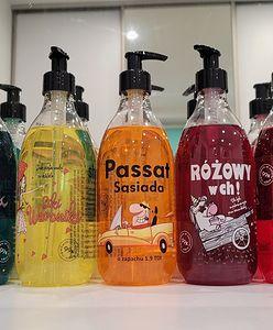 """""""Różowy w ch!"""", """"Siki Weroniki"""" to nazwy żeli pod prysznic. Nowa kontrowersyjna marka w Hebe"""