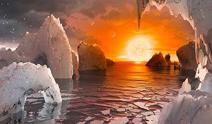Wizualizacja powierzchni egzoplanety.