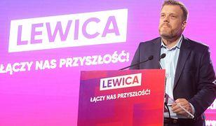 Adrian Zandberg na konwencji Lewicy. Warszawa, 14 września 2019 r.