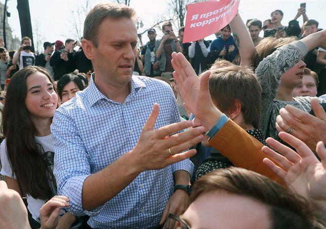 Aleksiej Nawalny przyjechał do Warszawy z synem Zakharem