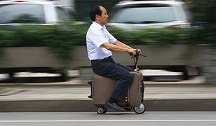 Skuter elektryczny i walizka w jednym?