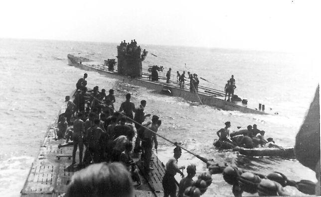 Niemieckie U-Booty z rozbitkami