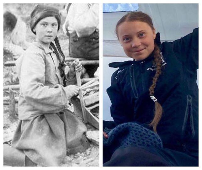Greta Thunberg przypomina dziewczynkę sprzed 120 lat