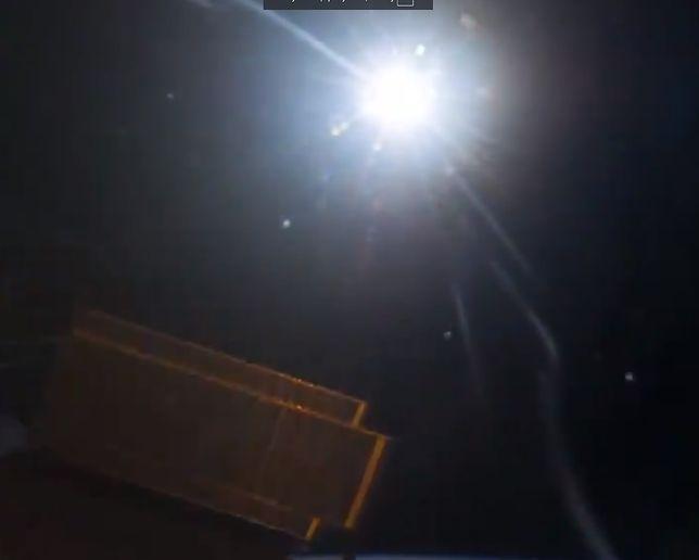 Słońce widziane z pokładu Międzynarodowej Stacji Kosmicznej ISS.