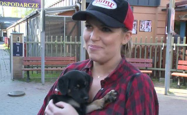 Aleksandra Kwaśniewska rozważa adopcję psa ze schroniska