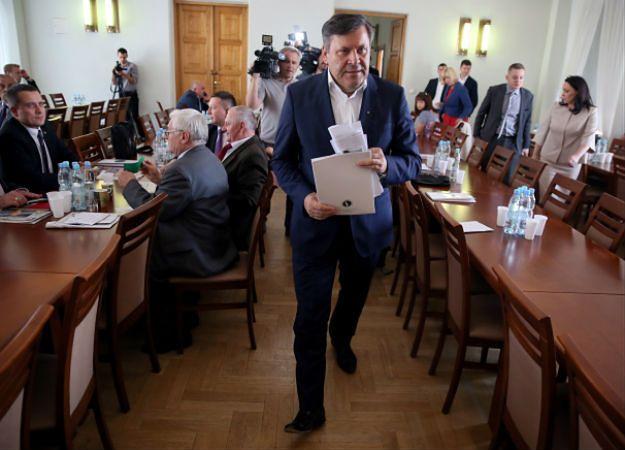 Lider PSL, wicepremier, minister gospodarki Janusz Piechociński podczas Krajowej Konwencji Wyborczej PSL