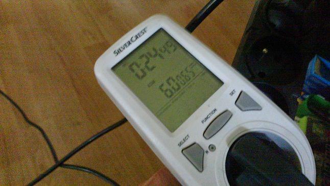 Pobór prądu dysku w spoczynku (w stanie jałowym zasilacz bierze 2[W])