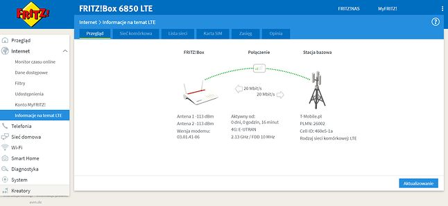 Router FRITZ!Box 6850 LTE - Informacje na temat LTE