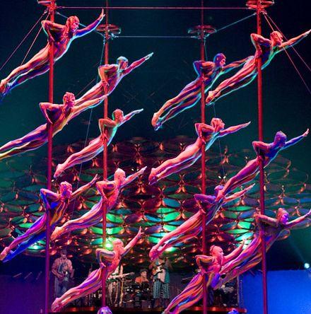 Cirque du Soleil - siła i wytrzymałość cyrkowców