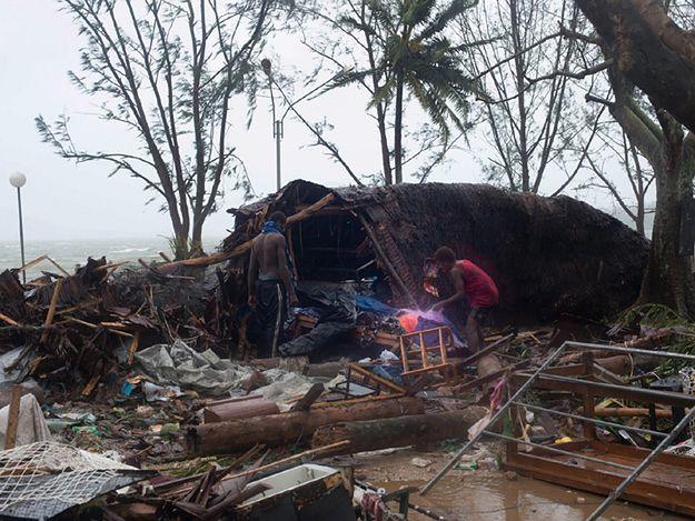 Obraz zniszczeń na wyspie Vanuatu