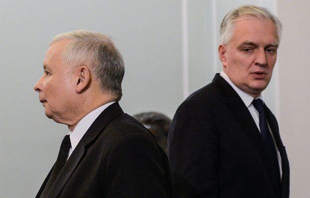 prezes PiS Jarosław Kaczyński i szef Polski Razem Jarosław Gowin