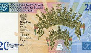 Banknot upamiętniający 300-lecie koronacji Obrazu Matki Bożej Jasnogórskiej.