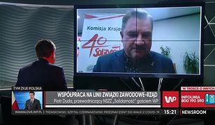 """""""Nowa Solidarność"""". Piotr Duda krytykuje związek zawodowy Rafała Trzaskowskiego"""