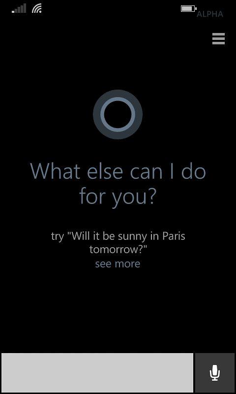 Gotowa Cortana po konfiguracji
