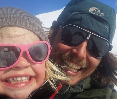Poróżnik Alexander Read ze swoją córką Miną