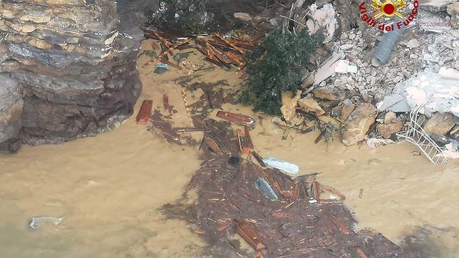 Trumny unosiły się na powierzchni wody w  Camogli