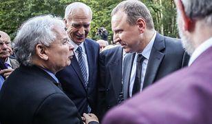 Prezes PiS Jarosław Kaczyński i szef TVP Jacek Kurski