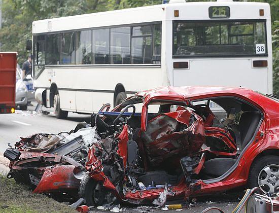 Tragiczny wypadek na śląskiej drodze - zdjęcia