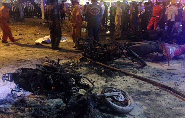 Miejsce tragedii w Bangkoku - są ofiary śmiertelne