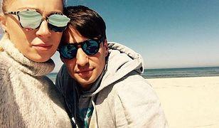 Gliwińska i Bieniuk na plaży.