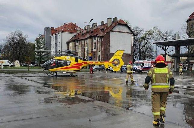 Tarnowskie Góry. Helikopter LPR przetransportował 18-latkę do szpitala.