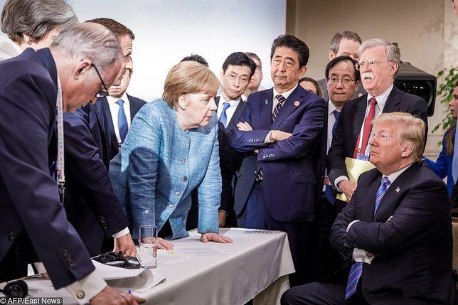 """Donald Trump o słynnym zdjęciu z Angelą Merkel. """"To nie tak!"""""""