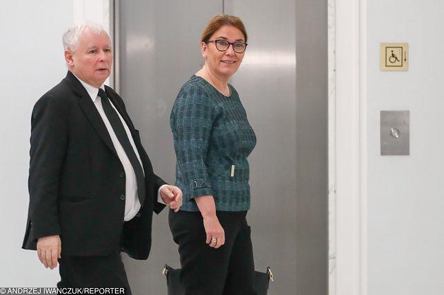 Beata Mazurek na briefingu w Sejmie została zapytana o spotkanie prezesa PiS z Lechem Wałęsą