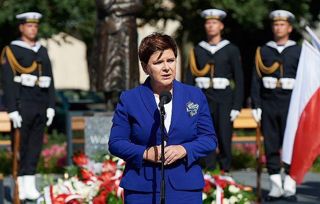 Premier Beata Szydło podczas obchodów rocznicy Porozumień Sierpniowych