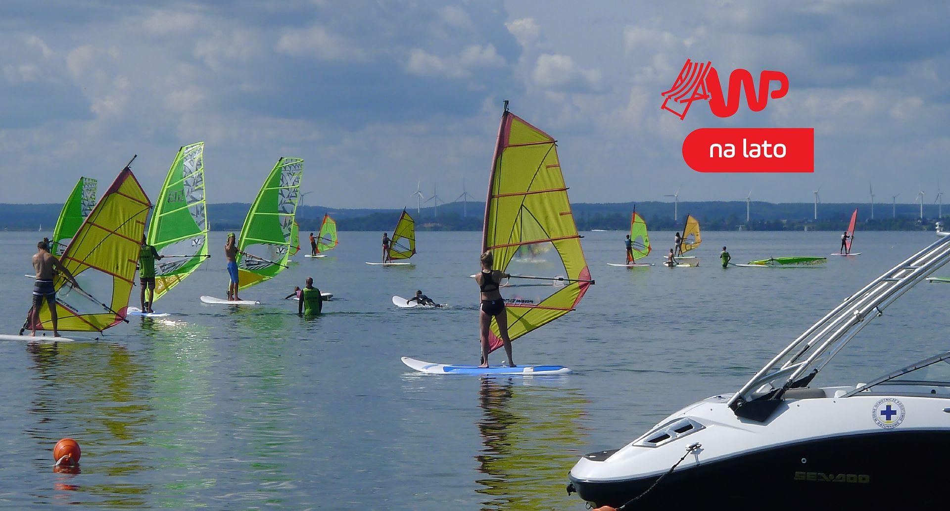 Zatoka Pucka jest idealna dla początkujących windsurferów