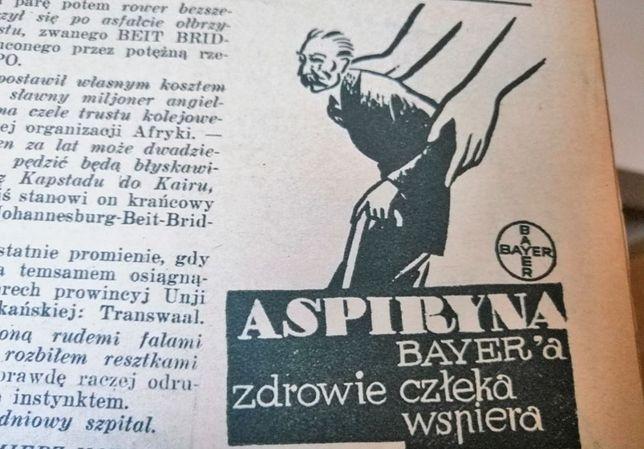 Koncern Bayer niemal w każdym numerze magazynu reklamował swoją aspirynę