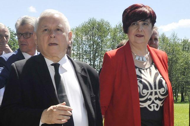 Jarosław Kaczyński i Krystyna Wróblewska