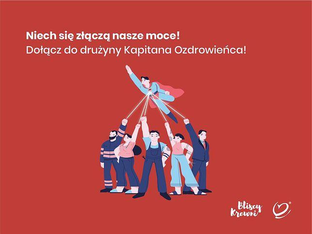 Katowice. RCKiK za pomocą Kapitana Ozdrowieńca szuka osocza ozdrowieńców.