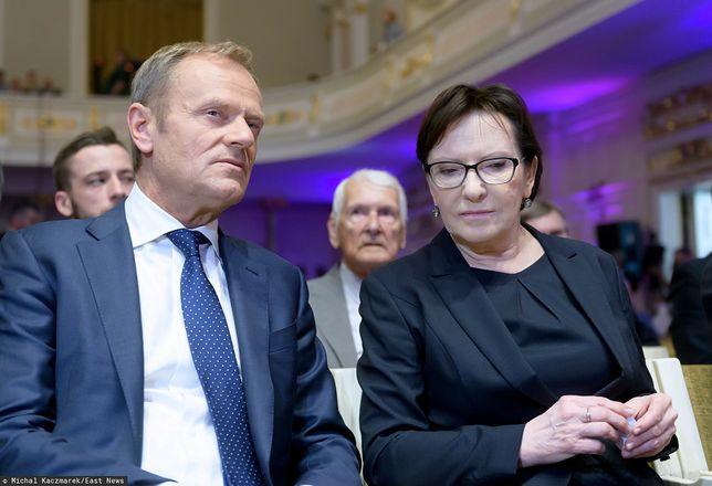 Byli premierzy: Donald Tusk oraz Ewa Kopacz (zdj. arch.)