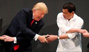 Donald Trump i Rodrigo Duterte w Manili