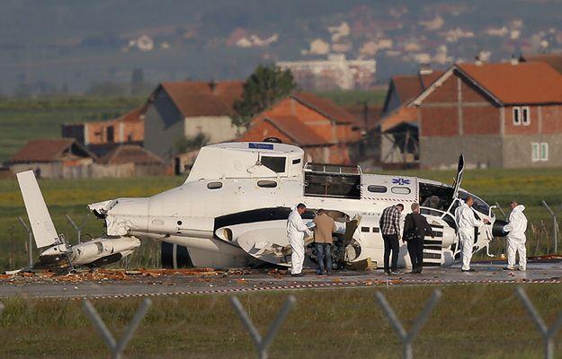 Śmigłowiec unijnej misji EULEX rozbił się na lotnisku w Prisztinie