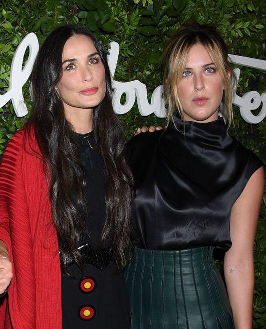 Demi Moore na imprezie domu mody Salvatore Ferragamo