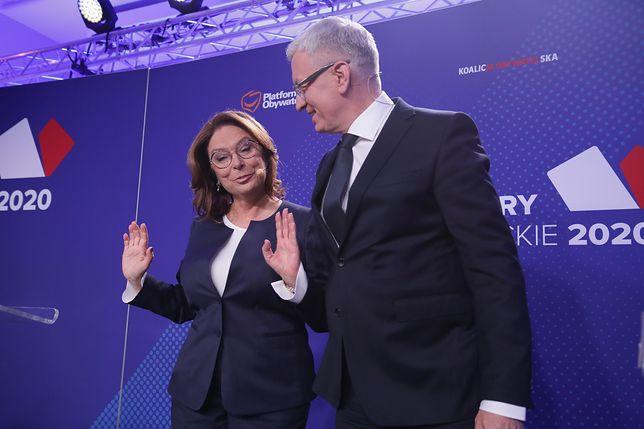 Małgorzata Kidawa-Błońska na debacie prawyborczej