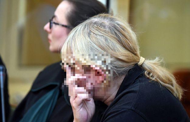 Mariusz T. na sali rozpraw w sądzie w Płocku