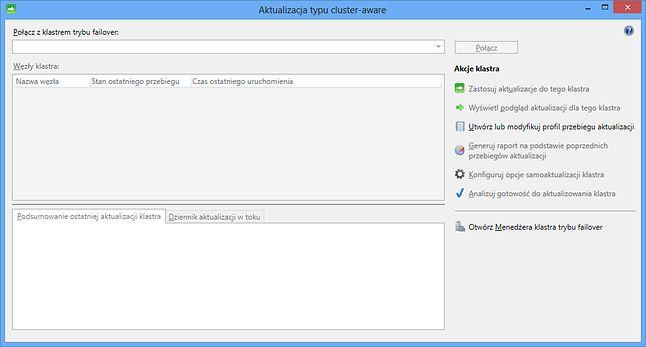 Aktualizacja typu cluster-aware